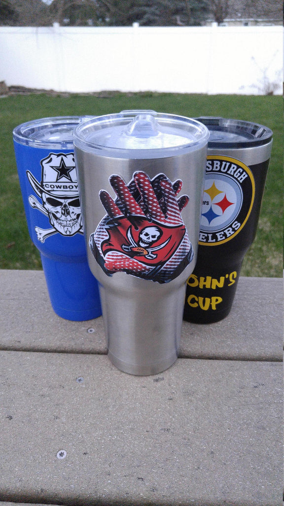 "Buccaneers ""Glove"" Tumbler Decals fits 30oz & 20oz Tumblers Buy 2 Get 1 Free! Free Shipping!"