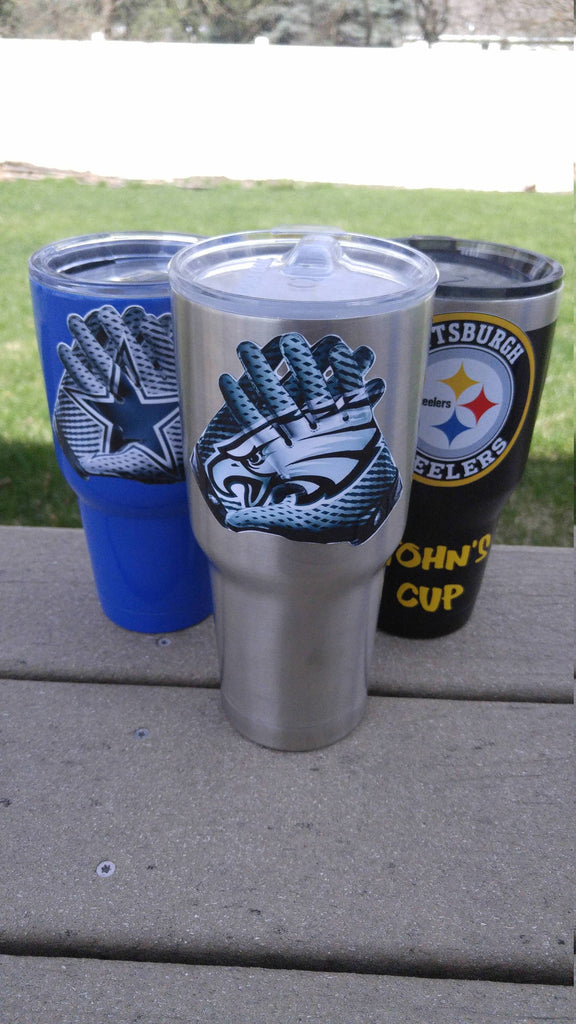 "Eagles ""Glove"" Tumbler Vinyl Decals fits 30oz & 20oz Tumblers Buy 2 Get 1 Free! Free Shipping!"