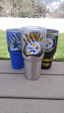 Steelers Tumbler Vinyl Decal fits 30oz & 20oz Tumblers Buy 2 Get 1 Free! Free Shipping!