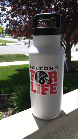"Image of Falcons ""For Life"" Tumbler Vinyl Decals fits 30oz & 20oz Tumblers Buy 2 Get 1 Free! Free Shipping!"