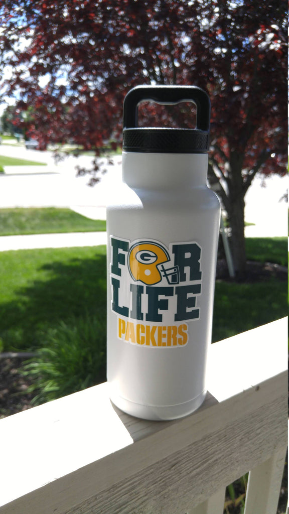 "Packers ""For Life"" Tumbler Vinyl Decal fits 30oz & 20oz Tumblers Buy 2 Get 1 Free! Free Shipping!"