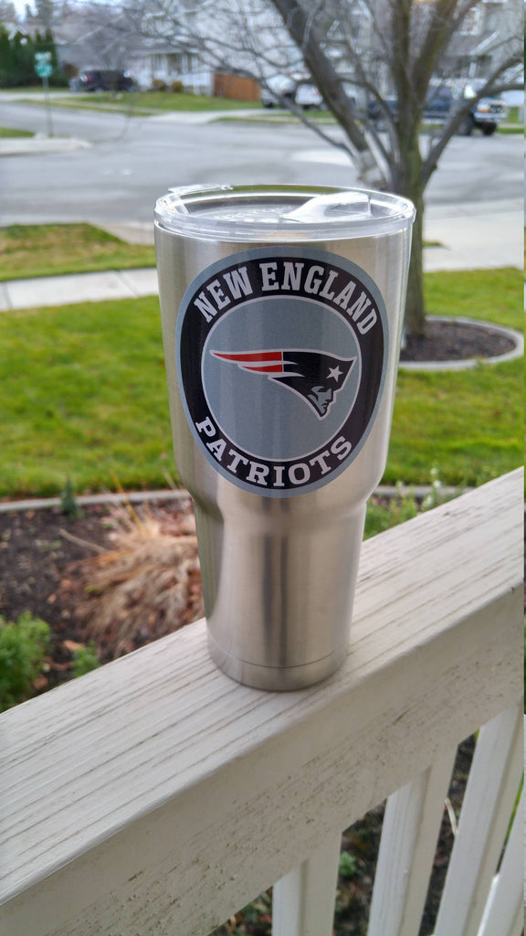 Patriots Tumbler Vinyl Decals fits 30oz & 20oz Tumblers Buy 2 Get 1 Free! Free Shipping