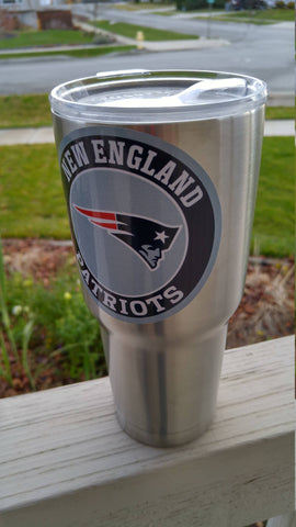 Image of Patriots Tumbler Vinyl Decals fits 30oz & 20oz Tumblers Buy 2 Get 1 Free! Free Shipping