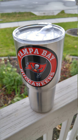 Image of Buccaneers Tumbler Decals fits 30oz & 20oz Tumblers Buy 2 Get 1 Free! Free Shipping!