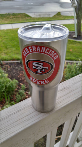 Image of 49ers Tumbler Decals/Stickers for 30oz & 20oz Tumbler Buy 2 Get 1 Free! Free Shipping!