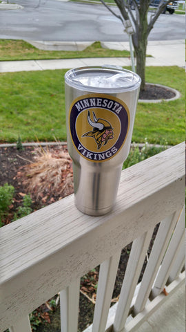 Image of Vikings Tumbler Vinyl Decals fits 30oz & 20oz Tumblers Buy 2 Get 1 Free! Free Shipping!
