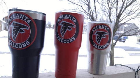 Image of Falcons Tumbler Vinyl Decals fits 30oz & 20oz Tumblers Buy 2 Get 1 Free! Free Shipping!