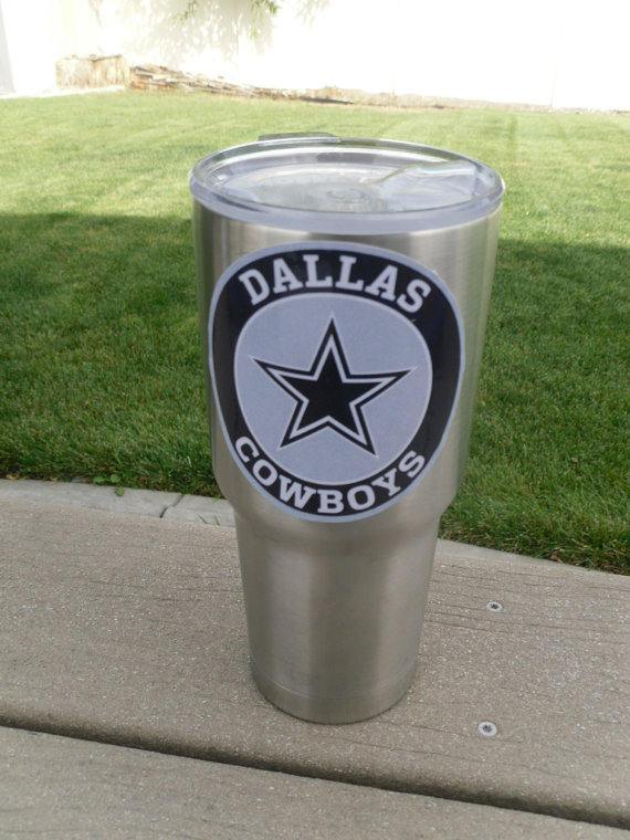 Cowboys Tumbler Decals fits 30oz & 20oz Tumblers Buy 2 Get 1 Free! Free Shipping!