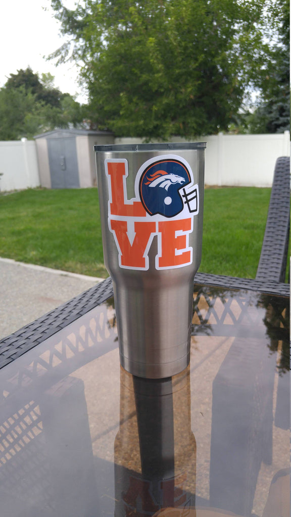 "BRONCOS ""Love"" Tumbler Decals for 30oz & 20oz Tumbler Buy 2 Get 1 Free! Free Shipping!"