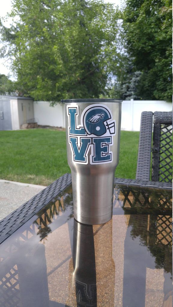 "Eagles ""Love""Tumbler Vinyl Decals fits 30oz & 20oz Tumblers Buy 2 Get 1 Free! Free Shipping!"