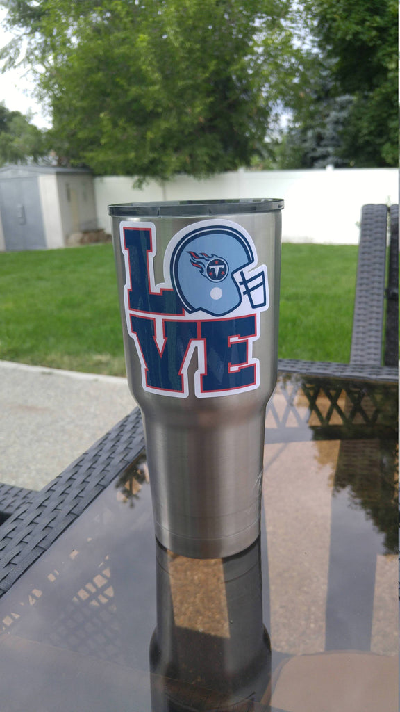 "Titans ""Love"" Tumbler Vinyl Decal fits 30oz & 20oz Tumblers Buy 2 Get 1 Free! Free Shipping!"