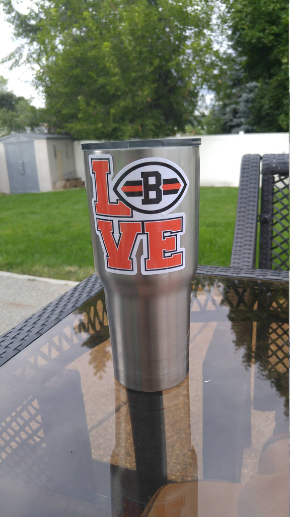 "Browns ""Love"" Tumbler Decals fits 30oz & 20oz Tumblers Buy 2 Get 1 Free! Free Shipping!"