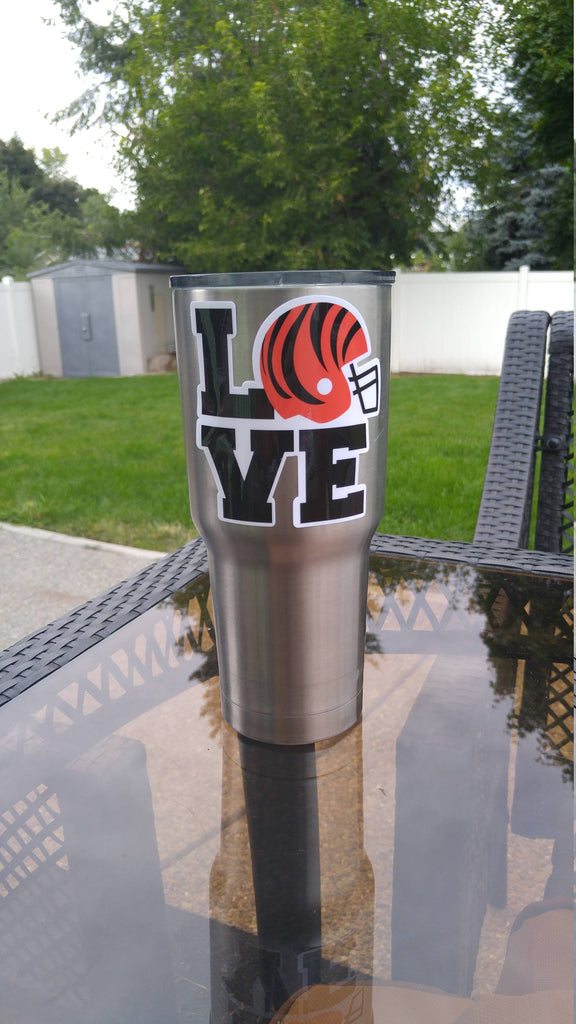 Bengals Love Tumbler Decals for 30oz & 20oz Tumbler Buy 2 Get 1 Free! Free Shipping!