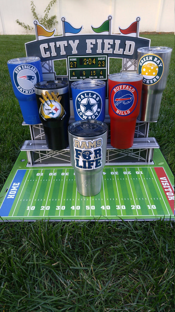 "Rams ""For Life"" Tumbler Vinyl Decal fits 30oz & 20oz Tumblers Buy 2 Get 1 Free! Free Shipping!"