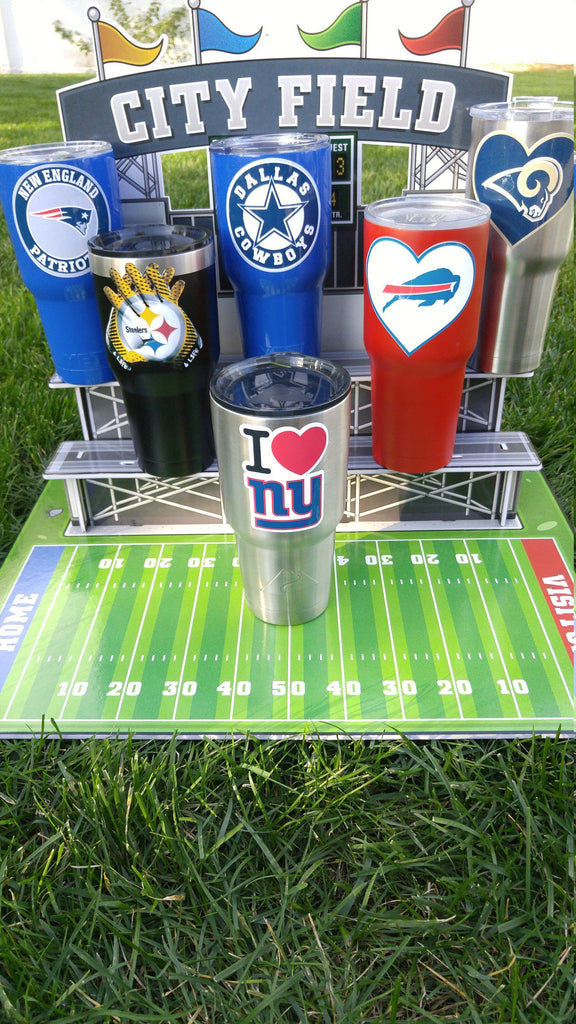 "Giants ""I Love NY"" Tumbler Vinyl Decals fits 30oz & 20oz Tumblers Buy 2 Get 1 Free! Free Shipping!"