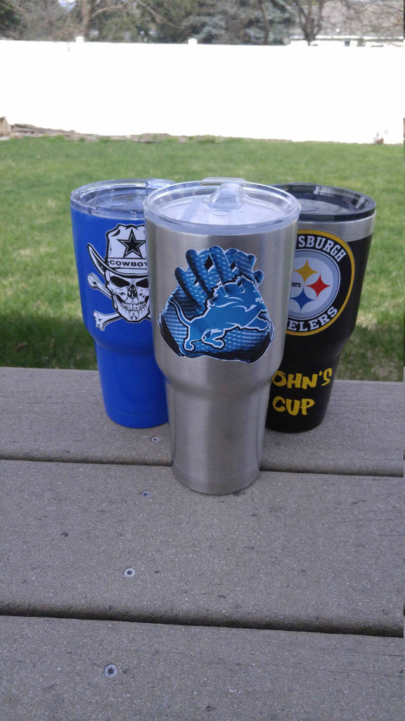 "Lions ""Glove"" Tumbler Vinyl Decals fits 30oz & 20oz Tumblers Buy 2 Get 1 Free! Free Shipping!"