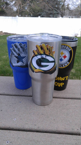 "Packers ""Glove"" Tumbler Vinyl Decals fits 30oz & 20oz Tumblers Buy 2 Get 1 Free! Free Shipping"
