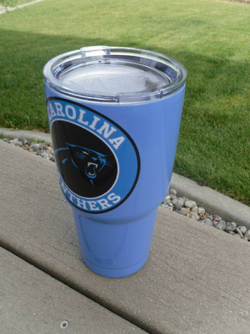 Image of Panthers Tumbler Vinyl Decals fits 30oz & 20oz Tumblers Buy 2 Get 1 Free! Free Shipping