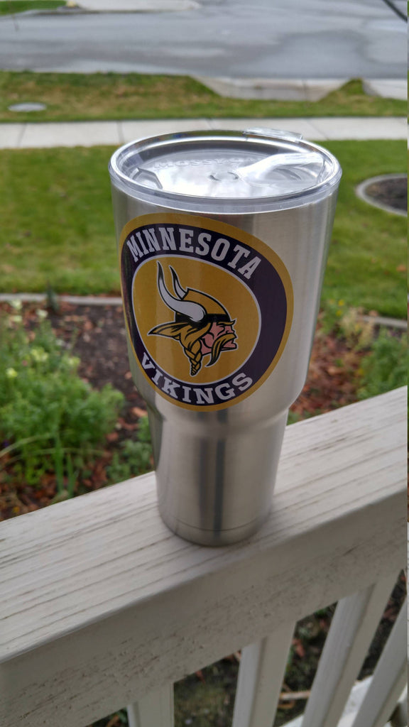 Vikings Tumbler Vinyl Decals fits 30oz & 20oz Tumblers Buy 2 Get 1 Free! Free Shipping!