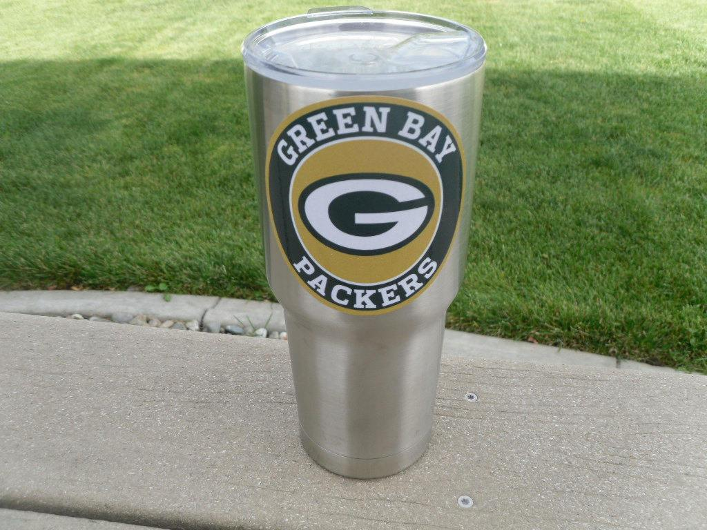 Packers Tumbler Vinyl Decals fits 30oz & 20oz Tumblers Buy 2 Get 1 Free! Free Shipping!
