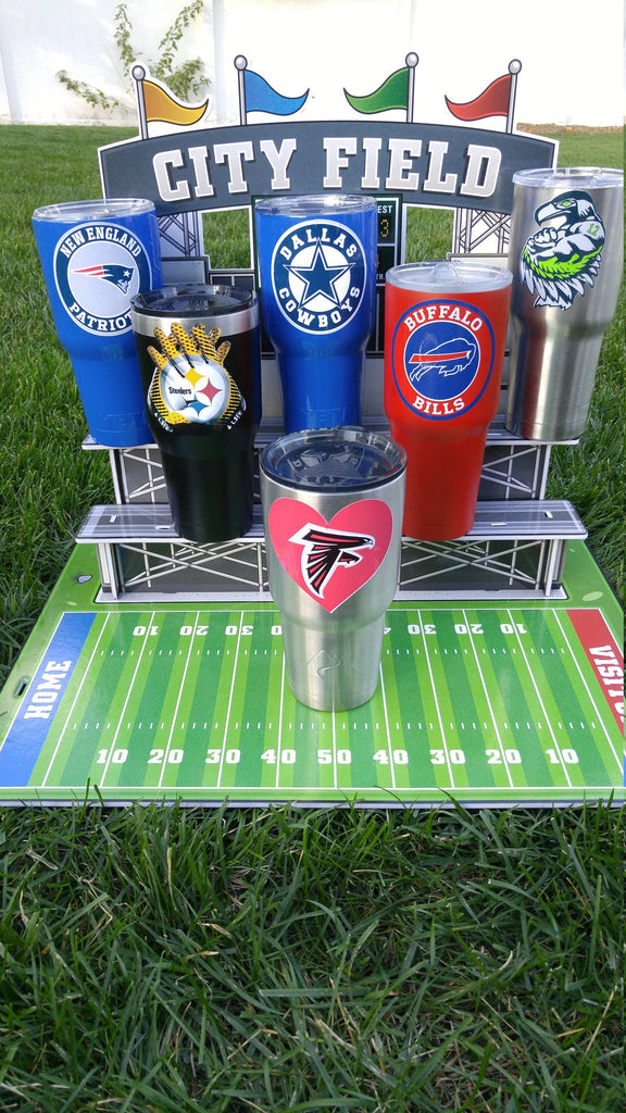 "Falcons ""Heart"" Tumbler Vinyl Decals fits 30oz & 20oz Tumblers Buy 2 Get 1 Free! Free Shipping!"