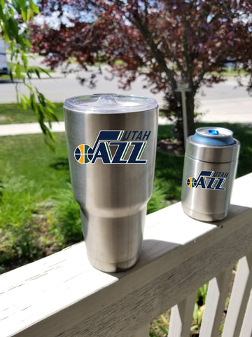 UTAH JAZZ Tumbler Vinyl Decal fits 30oz & 20oz Tumblers Buy 2 Get 1 Free! Free Shipping!
