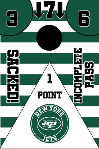 New York Jets Full Cornhole Board Wraps Set Jets Tailgate Toss Game 3 Day Shipping New