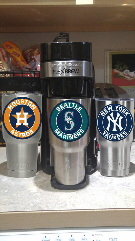 Seattle MARINERS Tumbler Vinyl Decal fits 30oz & 20oz Tumblers Buy 2 Get 1 Free! Free Shipping!