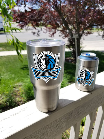 DALLAS MAVERICKS Tumbler Decals fits 30oz & 20oz Tumblers Buy 2 Get 1 Free! Free Shipping!