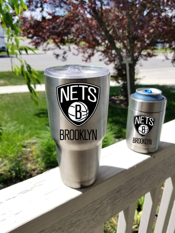Brooklyn Nets Tumbler Decals fits 30oz & 20oz Tumblers Buy 2 Get 1 Free! Free Shipping!