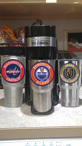 Image of OILERS Tumbler Decals fits 30oz & 20oz Tumblers Buy 2 Get 1 Free! Free Shipping!