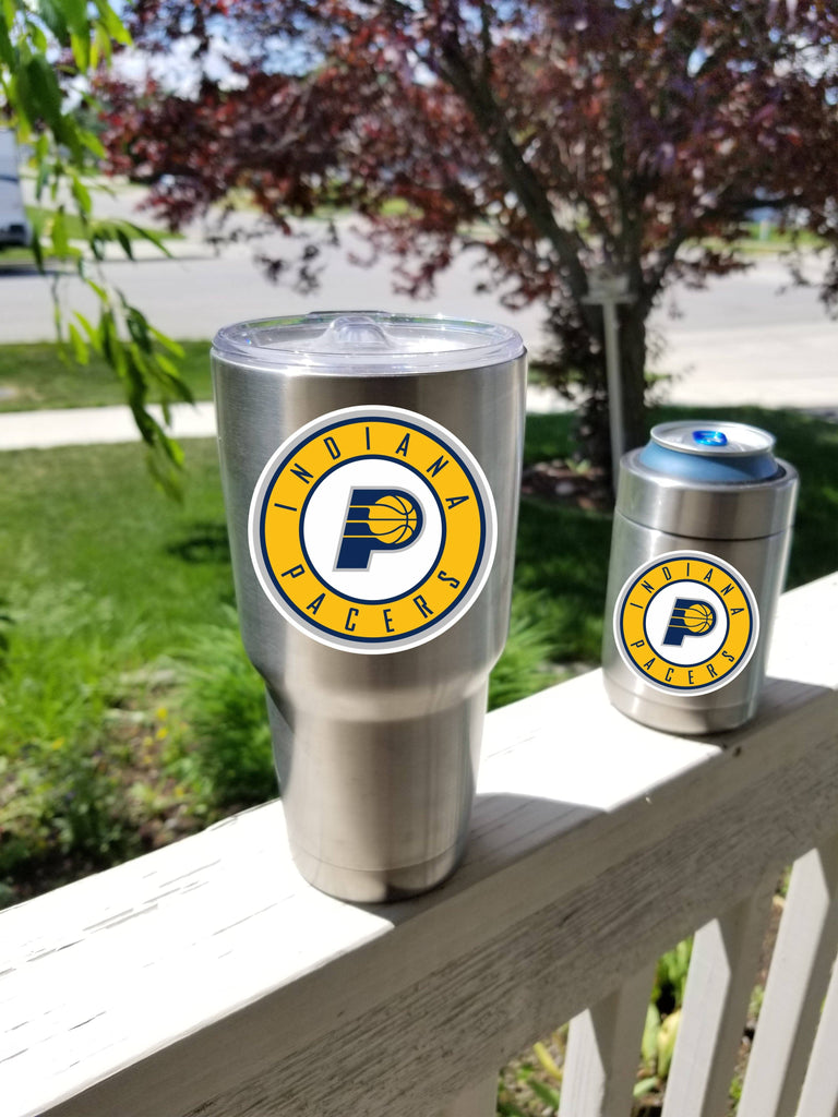 Indiana PACERS Tumbler Vinyl Decals fits 30oz & 20oz Tumblers Buy 2 Get 1 Free! Free Shipping!