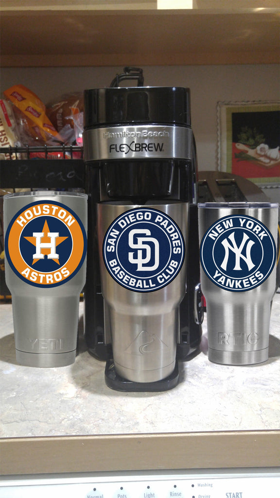 San Diego Padres Tumbler Vinyl Decal fits 30oz & 20oz Tumblers Buy 2 Get 1 Free! Free Shipping!