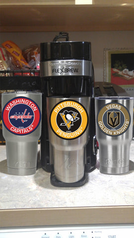Image of PENGUINS Tumbler Decals fits 30oz & 20oz Tumblers Buy 2 Get 1 Free! Free Shipping!