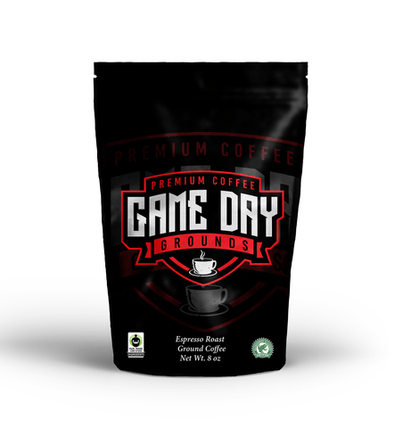 Image of Game Day Grounds Premium Coffee, Espresso Roast, 12 Ounce, Fair Trade Certified