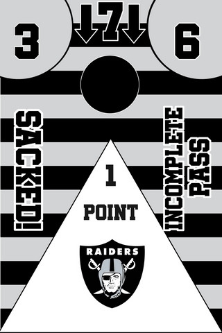 Image of Raiders Full Cornhole Board Wraps Set Raiders Tailgate Toss Game 3 Day Shipping New