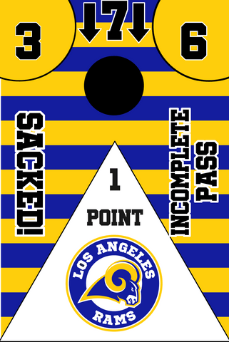Los Angeles Rams Full Cornhole Board Wraps Set Rams Tailgate Toss Game 3 Day Shipping New