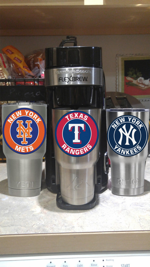 Texas Rangers Tumbler Vinyl Decal fits 30oz & 20oz Tumblers Buy 2 Get 1 Free! Free Shipping!