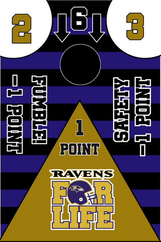 Baltimore Ravens Full Cornhole Board Wraps Set Ravens Tailgate Toss Game 3 Day Shipping New