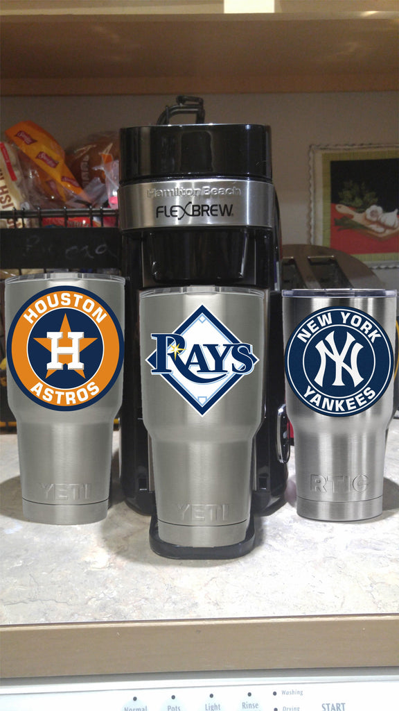 Tampa Bay Rays Tampa Bay Rays Tumbler Vinyl Decal fits 30oz & 20oz Tumblers Buy 2 Get 1 Free!