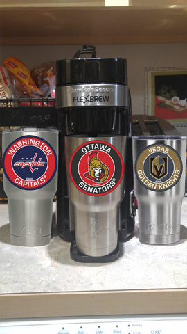 Image of SENATORS Tumbler Decals fits 30oz & 20oz Tumblers Buy 2 Get 1 Free! Free Shipping!