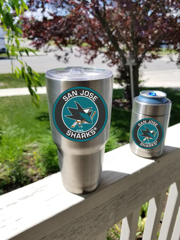 Image of SHARKS Tumbler Decals fits 30oz & 20oz Tumblers Buy 2 Get 1 Free! Free Shipping!