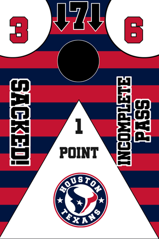 Image of Houston Texans Full Cornhole Board Wraps Set Texans Tailgate Toss Game 3 Day Shipping New