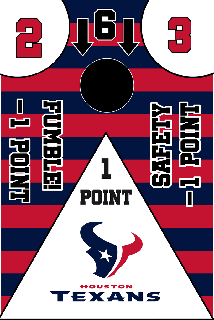 Houston Texans Full Cornhole Board Wraps Set Texans Tailgate Toss Game 3 Day Shipping New