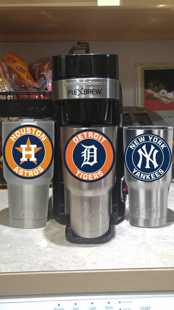 Detroit Tigers Tumbler Decals fits 30oz & 20oz Tumblers Buy 2 Get 1 Free! Free Shipping!
