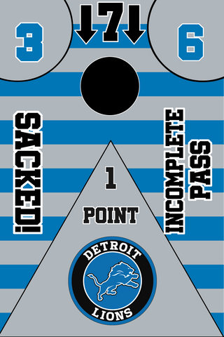 Image of Detroit Lions Full Cornhole Board Wraps Set Lions Tailgate Toss Game 3 Day Shipping New