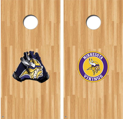 Minnesota Vikings Cornhole Decals, Vikings Vinyl Decal, NFL Cornhole Decals Buy 2 Get 1 FREE!