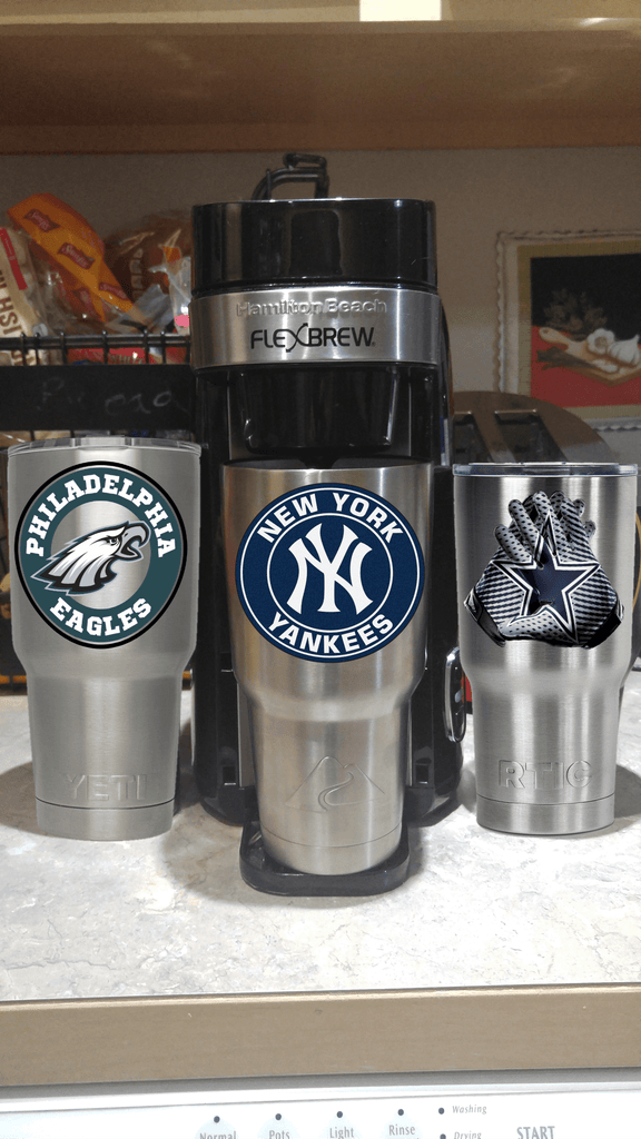 New York Yankees Tumbler Vinyl Decals fits 30oz & 20oz Tumblers Buy 2 Get 1 Free!