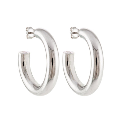 "1"" Perfect Hoops in Silver - Machete Jewelry"