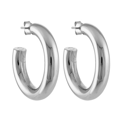 "1.5"" Perfect Hoops in Silver - Machete Jewelry"